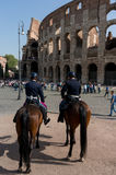 Rome Italy Colosseum Tourists Stock Image