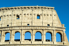 Rome Italy Colosseum upper arches structure. Stock Photography