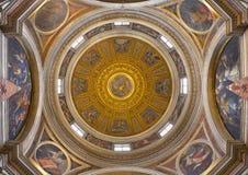 ROME, ITALY: Cupola in Chigi chapel designed by Raphael (1483 - 1520) in church Basilica di Santa Maria del Popolo. Stock Photography