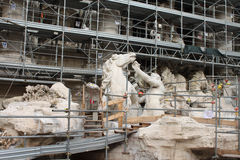 ROME, ITALY - DECEMBER 27, 2014: Famous Trevi Fountain Royalty Free Stock Photography