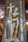 Risen Christ, 1521 Renaissance Carrara marble sculpture by Michelangelo Buonarroti, housed in the church of Santa Maria sopra. Rome, Italy - December 2018: Risen stock image