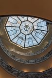 Rome, Italy. December 04, 2017: Spiral staircase in Vatican Museum stock photo