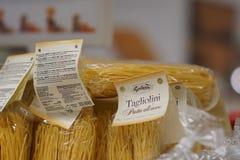 Italian Tartuflanghe tagliolini pasta stock photo