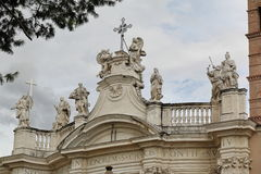 Rome, Italy. Details of the Basilica of the Holy Cross in Jerusa Royalty Free Stock Images