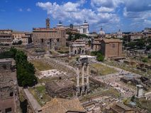 The Ancient Roman Forum from the Palatine Hill in Rome Italy Royalty Free Stock Photo
