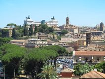 19.06.2017, Rome, Italy, Europe: Great cityscape seen from Avent Royalty Free Stock Images
