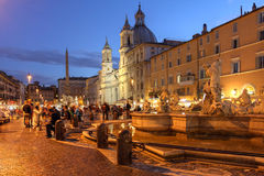 Rome, Italy. Evening in Piazza Navona, Rome, Italy Stock Photography