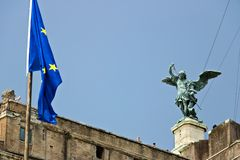 Castel Sant`Angelo or mausoleum of Hadrian in Rome royalty free stock photography