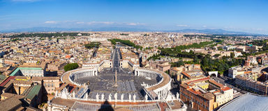 Rome, Italy. Famous Saint Peter`s Square in Vatican Royalty Free Stock Image