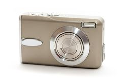 Old compact camera from 2000s royalty free stock photos