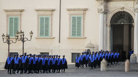 ROME, ITALY - FEBRUARY 22, 2015: Change of guards Royalty Free Stock Image