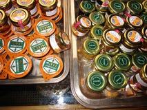 Honey and jams stock photos