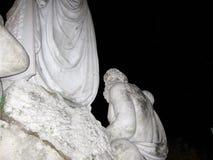 Piazza del Popolo statue stock images