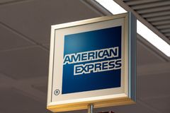 American Express sign royalty free stock photos