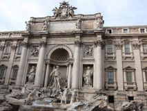 View of Trevi Fountain royalty free stock image