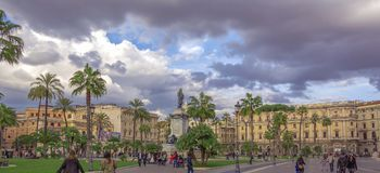 View of Piazza Cavour in Rome Stock Image