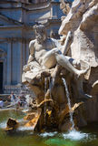 Rome. Italy. Fountain of Neptune on Piazza Navona Stock Image