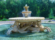 Rome, Italy. The fountain of sea horses in Borghese park Zdjęcie Royalty Free