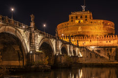 Rome, Italy: Hadrian's Mausoleum or Castle of  Holy Angel Royalty Free Stock Photos