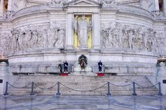 Soldiers guards at Altar of the Fatherland Stock Image