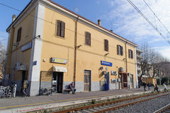 ROME, ITALY - JANUARY 20, 2010: Bracciano station Stock Photography