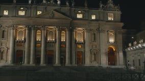 St. Peter`s Basilica in Vatican stock video footage