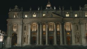 St. Peter`s Basilica in Vatican stock video