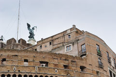 ROME, ITALY - JANUARY 27, 2010: statue of Michael the Archangel Royalty Free Stock Photos