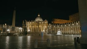 St. Peter square in Vatican stock video