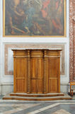 ROME, ITALY - JANUARY 22, 2010: Wooden Confessional Stock Photography