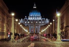 ROME, Italy - JULY 7 2013: Basilica di San Pietro in Vaticano - or called St. Peter's Basilica in the Vaticane Stock Photo