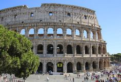 ROME, ITALY- JULY 11, 2017: Colosseum in Rome, Italy royalty free stock photos