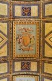 Part of ornamental ceiling in Vatican museum, Rome, Italy. ROME, ITALY - JULY 15, 2017: Part of ornamental ceiling in Vatican museum, Rome, Italy stock images