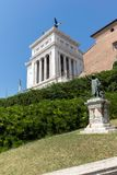 Amazing view of Altar of the Fatherland- Altare della Patria, known as the national Monument to Victo. ROME, ITALY - JUNE 23, 2017: Amazing view of Altar of the Stock Image