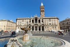 Amazing view of Basilica Papale di Santa Maria Maggiore in Rome, Italy. ROME, ITALY - JUNE 22, 2017: Amazing view of Basilica Papale di Santa Maria Maggiore in Stock Photos