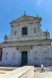 ROME, ITALY - JUNE 22, 2017: Amazing view of Chiesa di San Rocco all Augusteo in Rome Stock Images