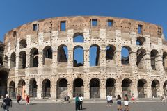 Amazing view of Colosseum in city of Rome, Italy. ROME, ITALY - JUNE 23, 2017: Amazing view of Colosseum in city of Rome, Italy Stock Photography
