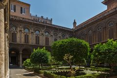 Amazing view of Pamphili Palace in city of Rome, Italy Royalty Free Stock Image