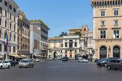 Amazing view of Piazza Venezia in city of Rome, Italy Royalty Free Stock Image