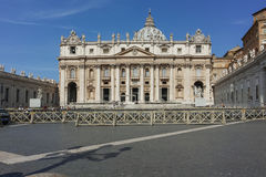ROME, ITALY - JUNE 23, 2017: Amazing view of Saint Peter`s Square and St. Peter`s Basilica in Rome Royalty Free Stock Photo