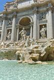 ROME, ITALY - JUNE 23, 2017: Amazing view of Trevi Fountain Fontana di Trevi in city of Rome Stock Image