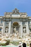 ROME, ITALY - JUNE 23, 2017: Amazing view of Trevi Fountain Fontana di Trevi in city of Rome Stock Photo