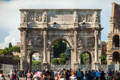 ROME, ITALY - JUNE 5, 2016: The Arch of Constantine Royalty Free Stock Photo