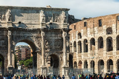 ROME, ITALY - JUNE 5, 2016: The Arch of Constantine Stock Photo