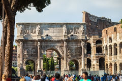 ROME, ITALY - JUNE 5, 2016: The Arch of Constantine Royalty Free Stock Photos