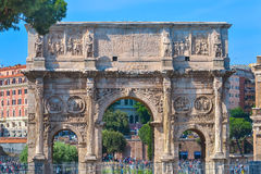 Rome, ITALY - JUNE 01: The Arch of Constantine in Rome, Italy on June 01, 2016. The Arch of Constantine in Rome, Italy on June 01, 2016 Stock Image
