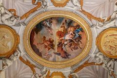 Art fresco in Galleria Borghese royalty free stock image