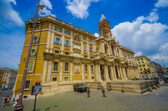 ROME, ITALY - JUNE 13, 2015: Basilica di Santa Maria Maggiore at Rome, one of beautiful churchs that can find in the Royalty Free Stock Photos