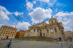 ROME, ITALY - JUNE 13, 2015: Basilica di Santa Maria Maggiore at Rome, one of beautiful churchs that can find in the Stock Images