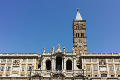 ROME, ITALY - JUNE 22, 2017: Frontal view of Basilica Papale di Santa Maria Maggiore in Rome. Italy Royalty Free Stock Photography
